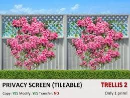 Trellis As Privacy Screen Second Life Marketplace Dq Privacy Screen Tileable Trellis
