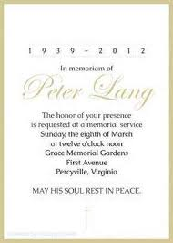 funeral service announcement wording business card message exles sle corporate event invitation
