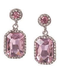 pink drop earrings bellagio serena deco pink drop earrings wedding