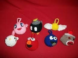 mario nintendo ornaments a kirby plushie crochet on cut
