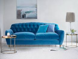 Blue Velvet Chesterfield Sofa by Butterbump Sofa Chesterfield Sofa Loaf
