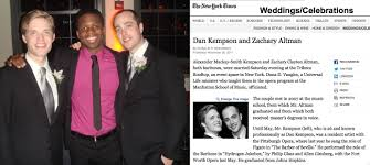 new york times wedding announcement barihunks ny times dan kempson zachary altman wedding announcement