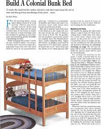 Convertible Crib Plans by Colonial Bunk Bed Plans U2022 Woodarchivist