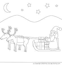 santa claus u0027 sleigh flying reindeer coloring