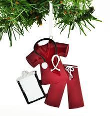 scrubs doctor nurse red u2013 personalized ornaments