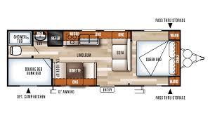 Rear Kitchen Rv Floor Plans 2018 Forest River Salem Cruise Lite 261bhxl Model