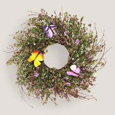 herb wreath live herb wreath with faux butterflies world market