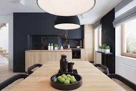 amenagement cuisine rectangulaire aménagement cuisine blanche et bois 35 idées cool