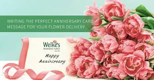 anniversary card for message writing the anniversary card message for your flower