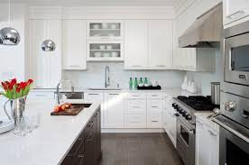 Transitional White Kitchen - beautiful kitchen cabinets custom cabinetry rockville maryland md