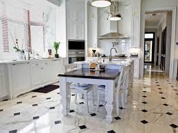 Lighting Design For Kitchen by Alluring Sleek White Ceramic Floor Tile For Contemporary Kitchen