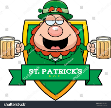 cartoon illustration drunk leprechaun st patricks stock vector