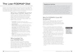 the low fodmap solution put an end to ibs symptoms and abdominal