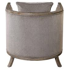 ebba lodge rustic wood grey chenille armchair kathy kuo home