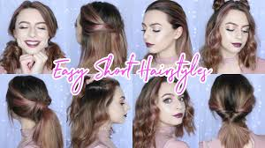 easy hairstyles for short hair sophie foster youtube