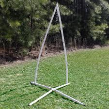 white steel powder coated single swing hammock stand dfohome