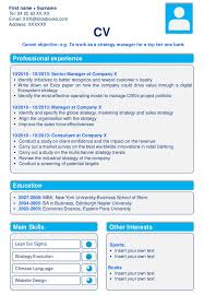 downloadable cv resume templates