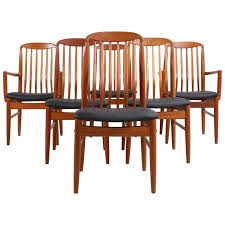 Dining Chair On Sale Six Modern Teak Dining Chairs By Benny Linden For Sale At