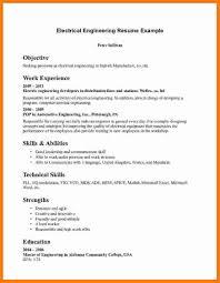 Electrical Engineering Resume Template Electrical Engineer Fresher Resume Sample Free Resume Example