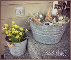 Easter Decorating Ideas For The Home by Flower Arrangements In Old Galvinite Buckets Like This Old