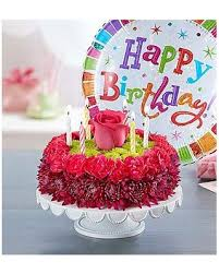 birthday flower cake here s a great price on birthday wishes flower cake purple small