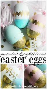 painted wooden easter eggs glittered and painted wooden handmade diy easter eggs easter