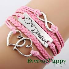 infinity braid bracelet images Antique silver sideways charm one direction heart infinity braided jpg