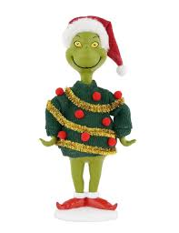 department 56 dr seuss the grinch tinsel sweater collection