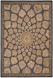 Slate Area Rug Nourison 2000 2318 Slate Traditional Area Rug Carpetmart