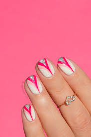 pink ribbon nail art plus an important message