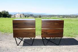 mid century modern accent table pair of mid century modern inspired hand made solid rosewood with