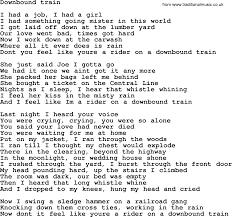 U Got It Bad Lyrics Bruce Springsteen Song Downbound Train Lyrics