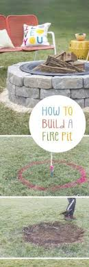 Building A Firepit 12 Diy Pits For Your Backyard Bricks Easy And Backyard