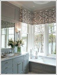 Ideas For Bathroom Window Treatments Grey Bathroom Window Curtains Lifeunscriptedphoto Co