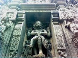 file lord narasimha rock statue backyard simhachalam temple jpg