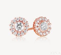 small diamond earrings diamond earrings with halo in gold