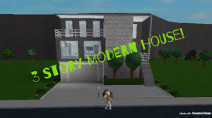 3 story houses bloxburg 3 story modern house yellows gaming youtube