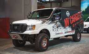 dodge work van nissan u0027s lifted turbo diesel 4x4 van could deliver packages
