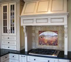 Vintage Kitchen Backsplash A Corner Kitchen With A Runner Along The Floor In Front Of The