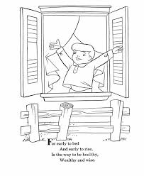 bluebonkers nursery rhymes coloring page sheets early to bed