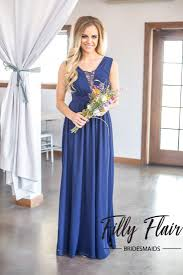 navy bridesmaid dresses manda bridesmaid dress in navy blue filly flair
