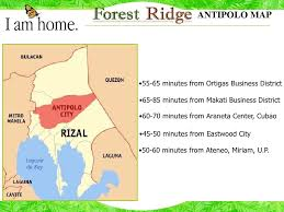 antipolo map forest ridge antipolo city