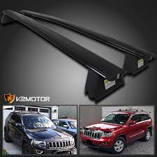 jeep grand cross rails 2011 2015 jeep grand black front rear roof top rack