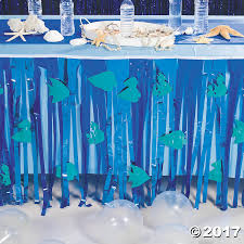 Table Skirts Under The Sea Table Skirt With Cutouts