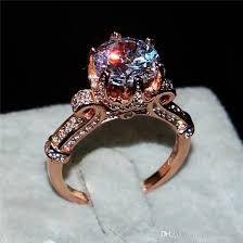 luxury gold rings images Best luxury 100 silod 925 silver rose gold ring jewelry flower jpg