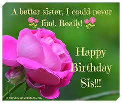 beautiful birthday card for sister a better sister i could never