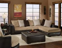 Furniture Sectional Sofas Dual Fabric Sectional With Chaise Lounge Ffo Home