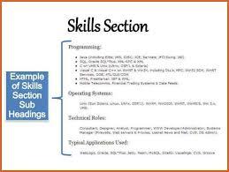 skills for resume skills section of resume resume skills section resume template
