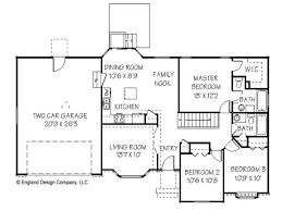 basic ranch floor plans crtable