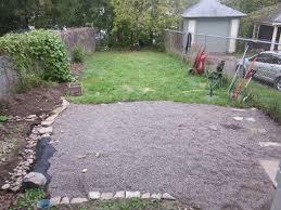 Backyard Gravel Ideas - pristine pea gravel backyard ideas paver patio columbus ohio